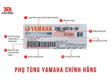 Hướng dẫn nhận biết phụ tùng xe máy Yamaha chính hãng